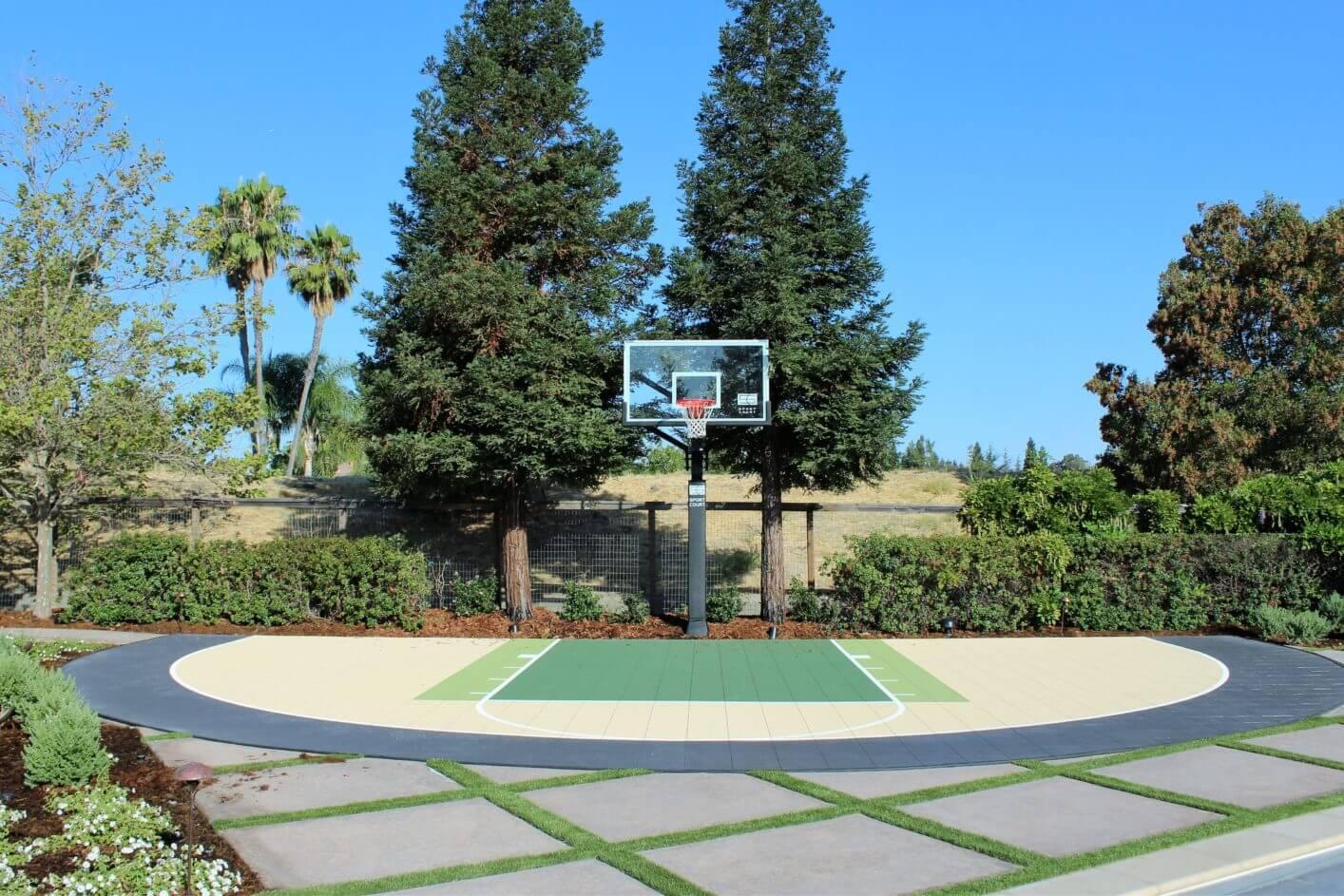Backyard Basketball Court Sport Court Custom