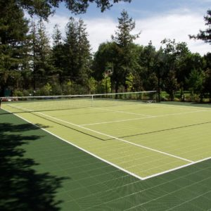 Backyard Residential Tennis Court Multi Court