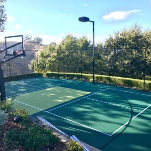 Backyard Sport Court Residential Basketball Pickleball Volleyball Court