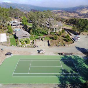 Backyard Residential Sport Court Tennis Court Calistoga, CA Nova ProBounce Surface