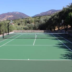 Backyard Residential Tennis Court Napa