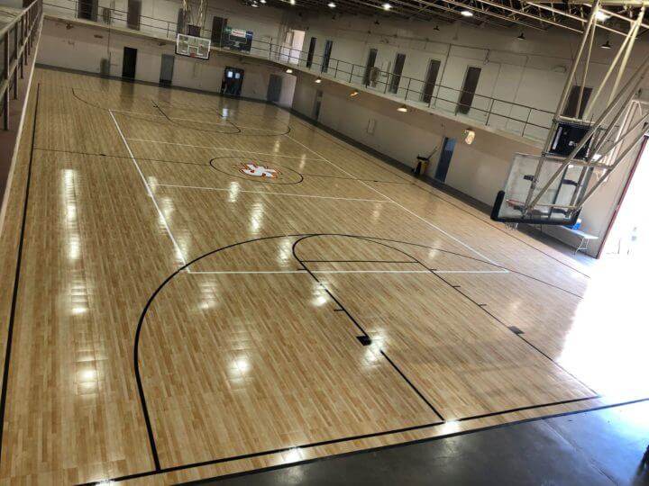 Commercial Indoor Sport Court Response HG Maple Select Wood Look, St Francis High School, Sacramento, CA