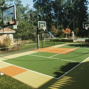Backyard Sport Court Game Court Basketball Tennis Hockey Futsal and Pickleball