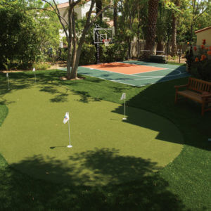 Custom Backyard Putting Green | Residential Backyard Golf | AllSport America