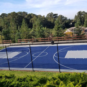Outdoor Commercial Basketball Court, Sport Court | Homeowners Association in San Francisco Bay Area | AllSport America