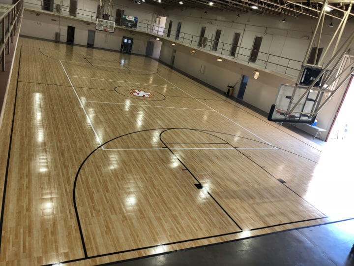 Indoor Gymnasium Sport Court Basketball and Volleyball Court