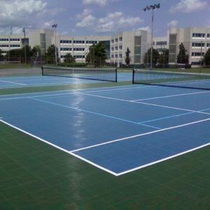 Sport Court PowerGame Tennis Court Tile Overlay Surfacing