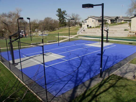 Residential Backyard Full Court Sport Court Lighting PowerGame Northern California Sacramento