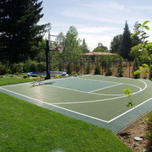 Backyard Basketball Court Los Altos