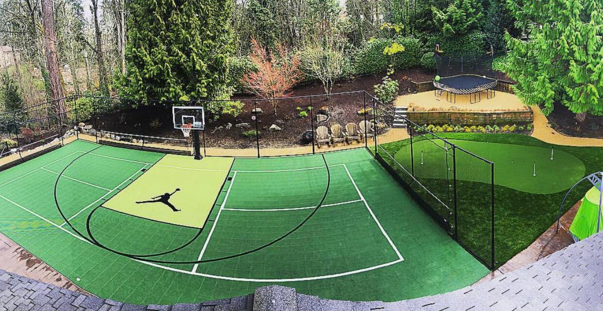 Backyard Basketball Court Sport Court Golden State Warriors. AllSport America