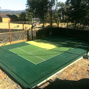 Backyard Sport Court Game Court Basketball 30x50 St. Helena