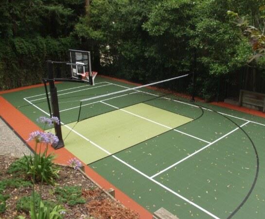 Backyard Residential Sport Court Game Court