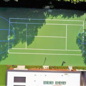 Backyard Residential Sport Court Tennis Court Game Court Custom