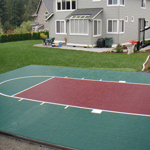 Backyard Basketball Court, Sport Court Landscape Outdoor Design