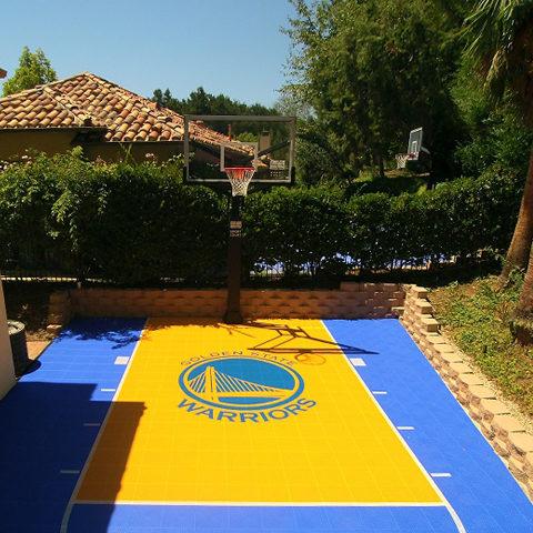 Backyard Basketball Sport Court Golden State Warriors Logo