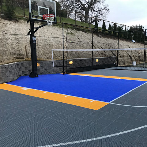 Backyard Basketball Court Golden State Warriors Colors