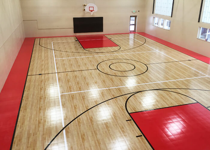 Sport Court Indoor Gymnasium Athletic Flooring