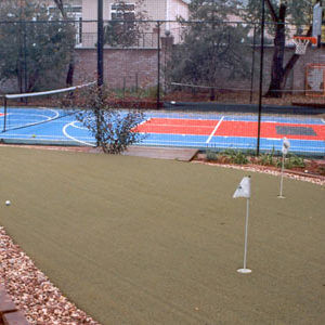 Backyard Custom Putting Green and Sport Court Game Court