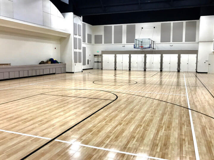 Indoor Gymnasium Sport Court Response HG Maple Select Flooring | Athletic Surfacing Commercial | AllSport America