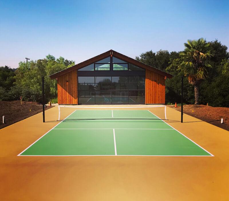 Backyard Pickleball Court   Custom Residential Nova Pro Bounce Court   AllSport America