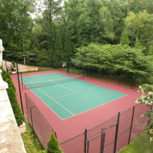 Sport Court Tennis Courts with PowerGame outdoor performance athletic surface