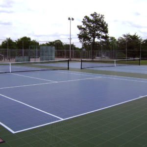 Sport Court USTA Tennis Courts with PowerGame outdoor performance athletic surface
