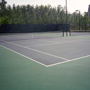 Before & After Sport Court Tennis Court Resurfacing