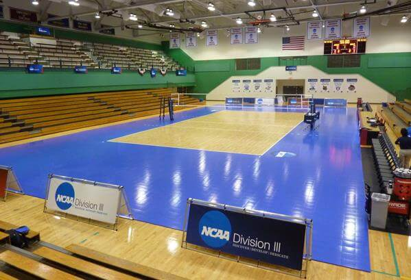 Gymnasium Flooring Indoor Sport Court Performance Surfaces NCAA Volleyball Championships Division 1. AllSport America