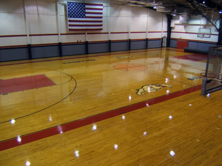 Wood Floor GA Military Sport Court. AllSport America
